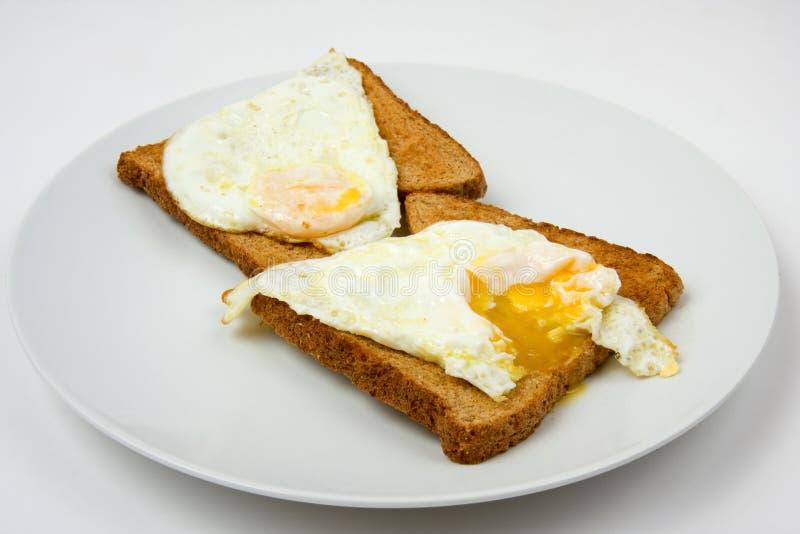 Jajko Smażonej Toast Obrazy Royalty Free