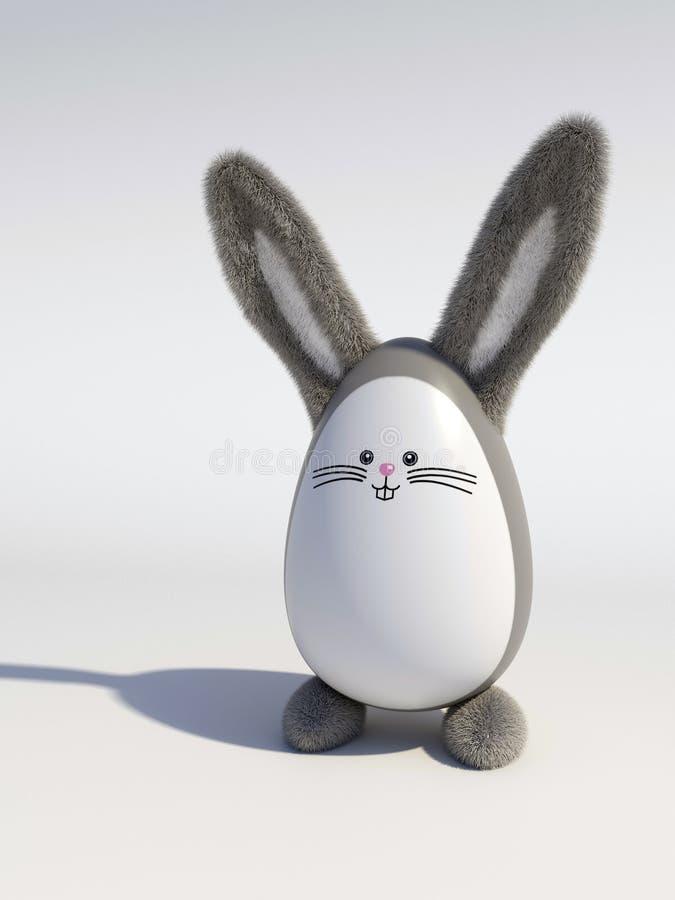 Jajko stylizowany Wielkanocny królik obraz stock