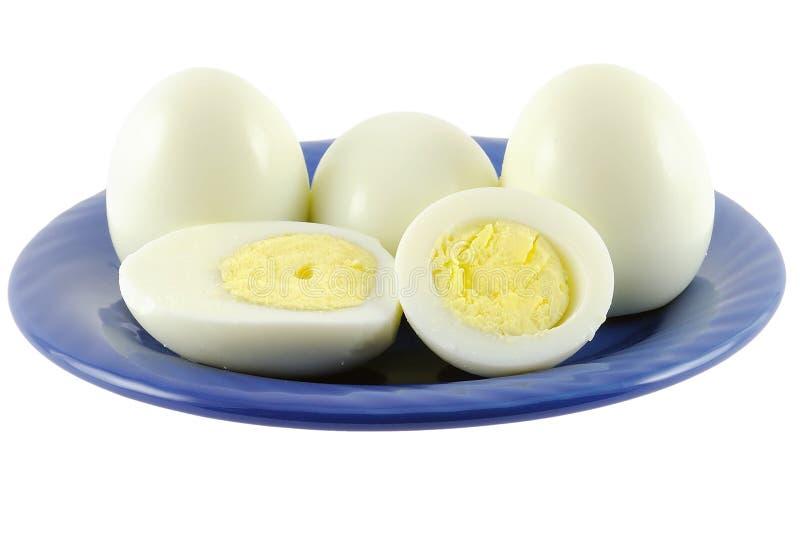 jajko talerz obrazy stock