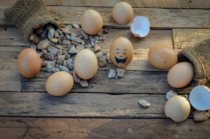 Jajko uśmiech obrazy royalty free