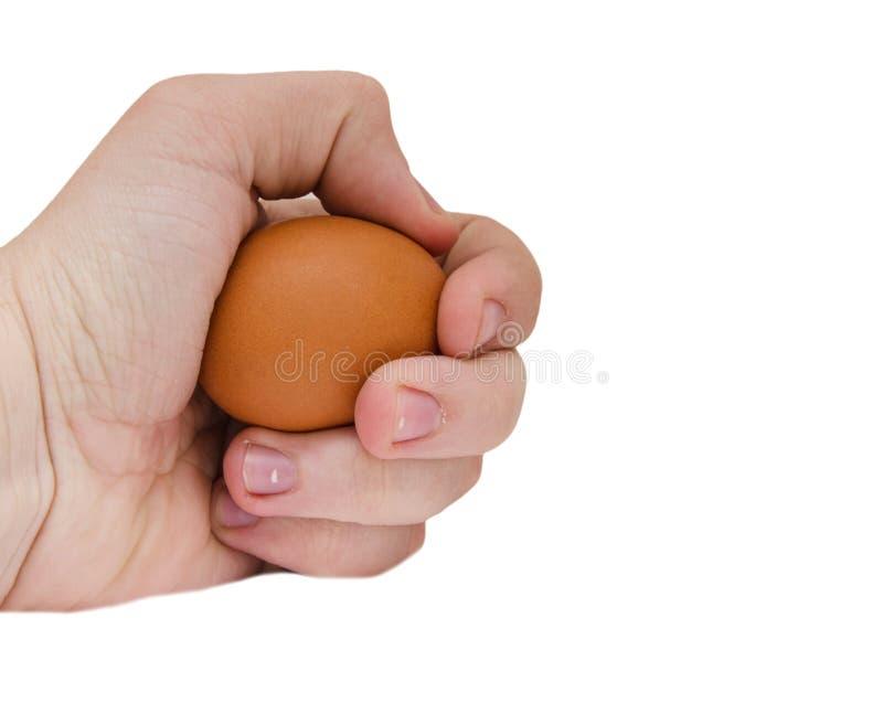 Jajko w ręce zdjęcie royalty free