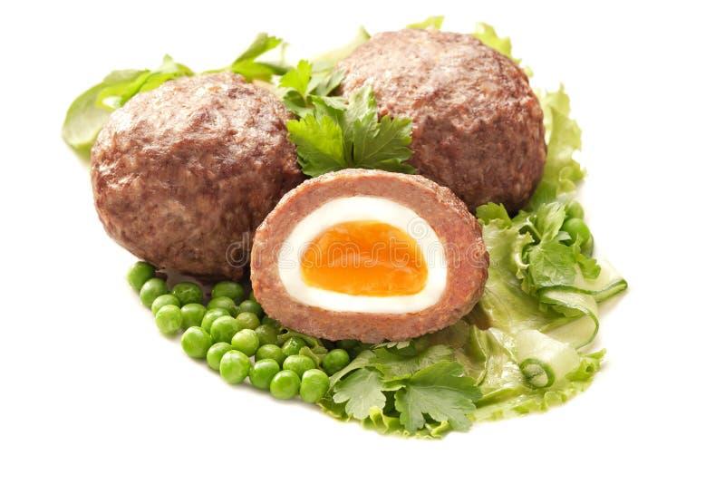 Jajko zawijający w minced mea fotografia royalty free