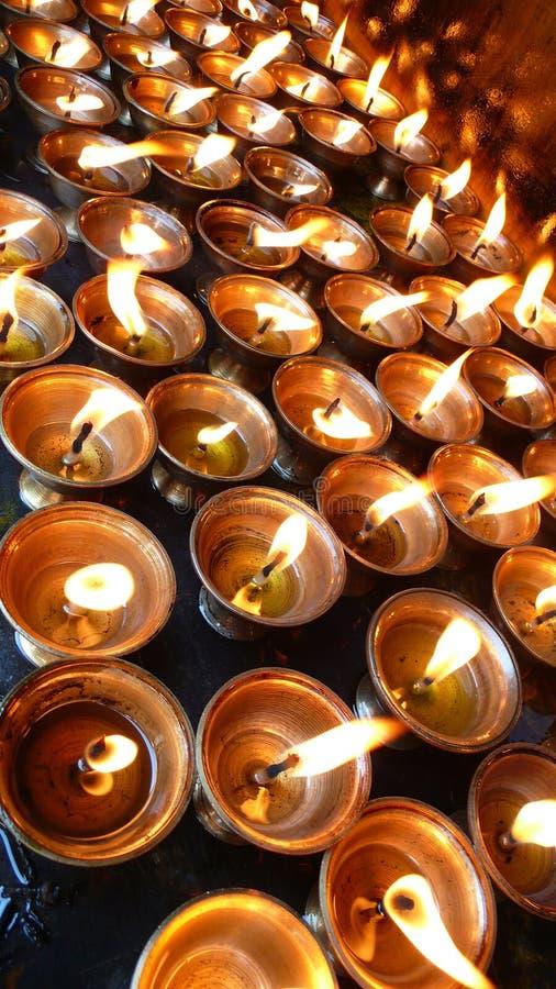 Jak-boter Lampen in Tibet royalty-vrije stock afbeelding