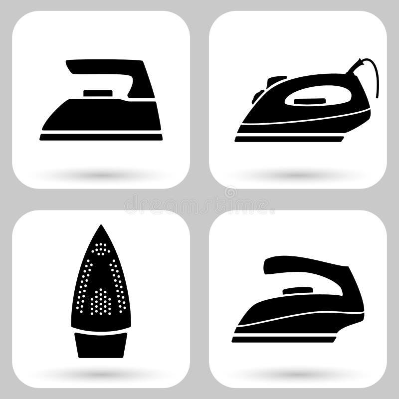 jak był może używać żelazny ikona logo Set wektorowa ikona elektryczni żelaza royalty ilustracja