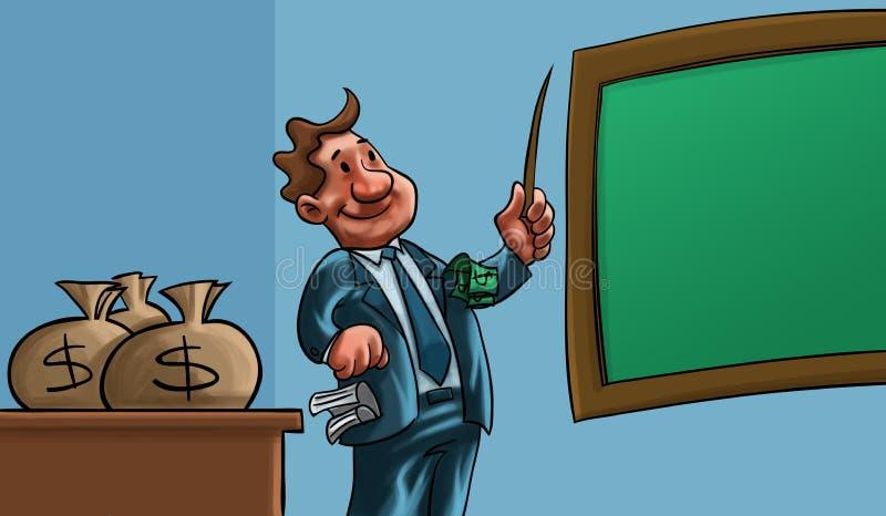jak dostaje mężczyzna pieniądze target320_1_ ilustracja wektor
