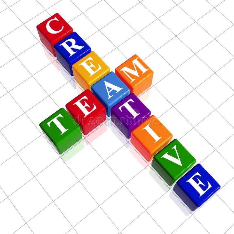 jak drużyna kreatywnie koloru crossword obrazy royalty free