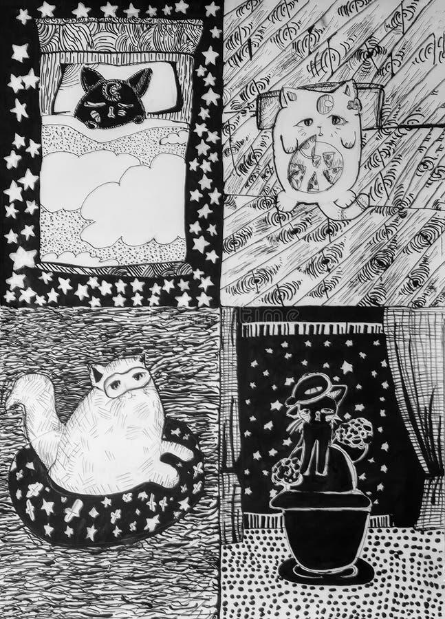 Jak dzień kota? royalty ilustracja