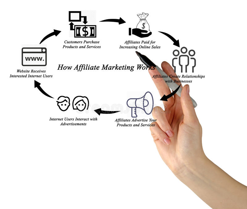 Jak filia marketing Pracuje obraz royalty free