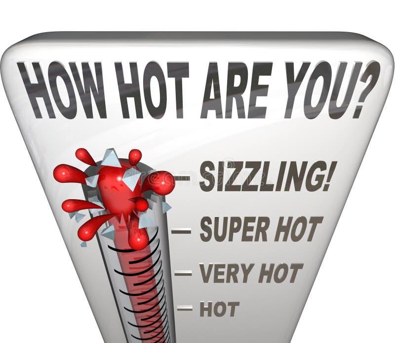 Jak Gorący Jest Ty Formułujesz termometru Atrakcyjny Seksownego ilustracja wektor