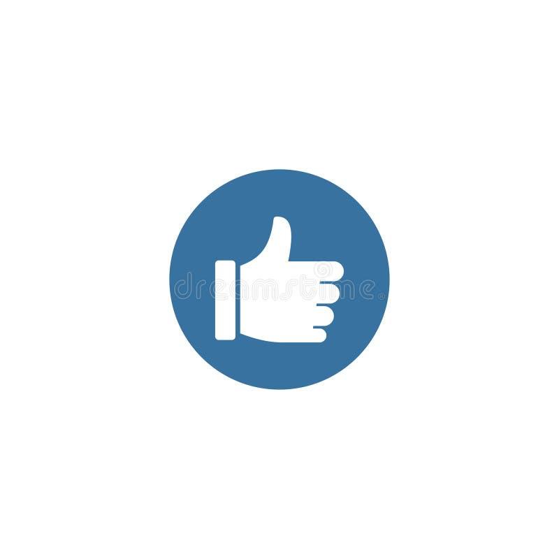 Jak ikona, logo Ogólnospołeczna ikona Symbol oceny Biały tło również zwrócić corel ilustracji wektora 10 eps ilustracja wektor