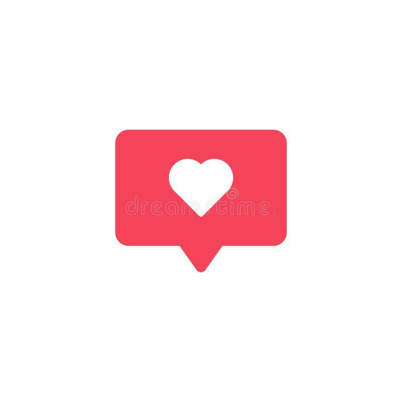 Jak ikona przygotowywa ikonę Ogólnospołeczni środki jak znak Powiadomienie bąbel Element dla projekta interfejsu mobilnego app lu royalty ilustracja