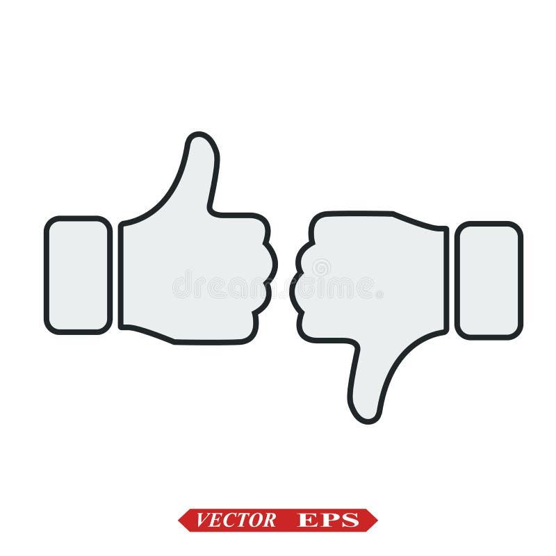 Jak ikona wektor Aprobaty Ikona Og?lnospo?eczna medialna ikona Jak I Niech?ci Ikona kciuki w g?r? ilustracji