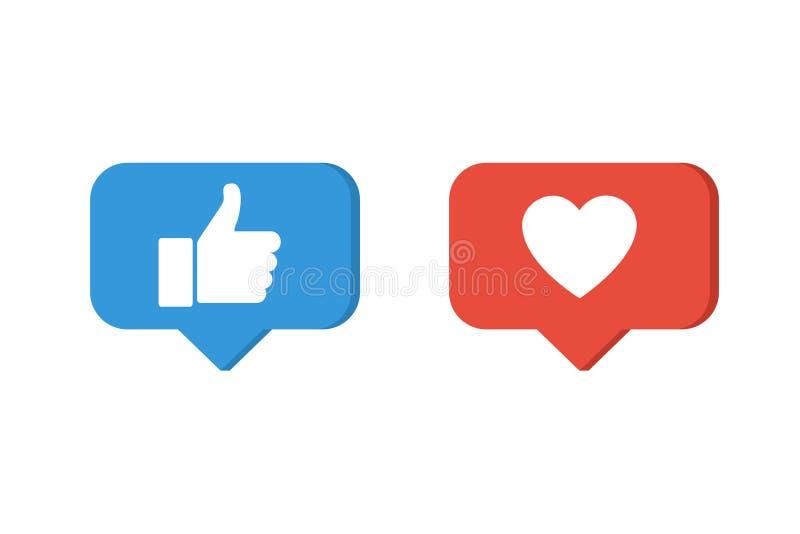 Jak ikony Kciuk up i kierowe wektorowe ikony ilustracja wektor