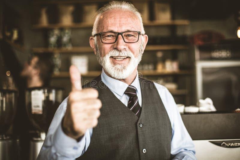 Jak jeżeli ty pomyślnego biznes Starsza osoba fotografia stock