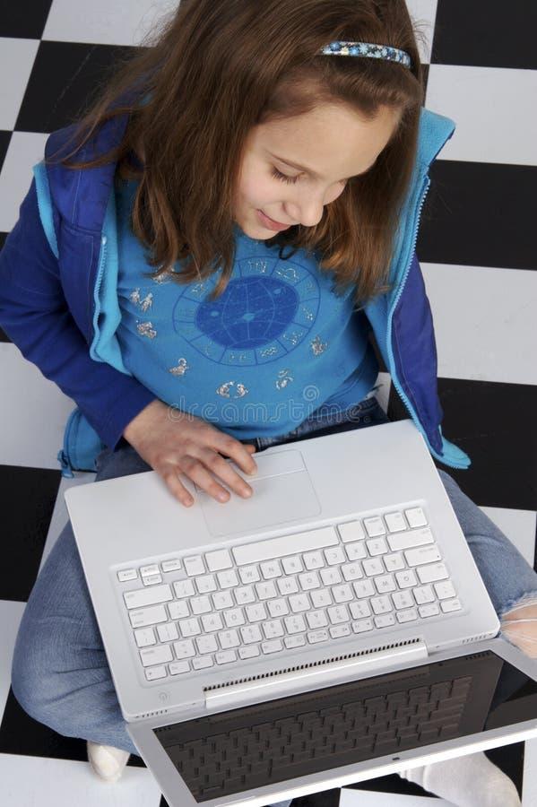 jak laptopa nauki użycia zdjęcie stock