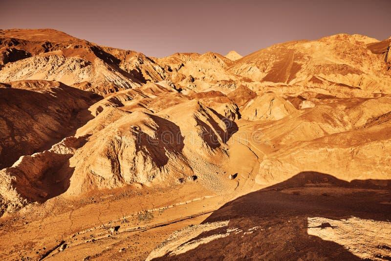 Jak opustoszała ziemia Śmiertelna dolina, usa zdjęcia stock