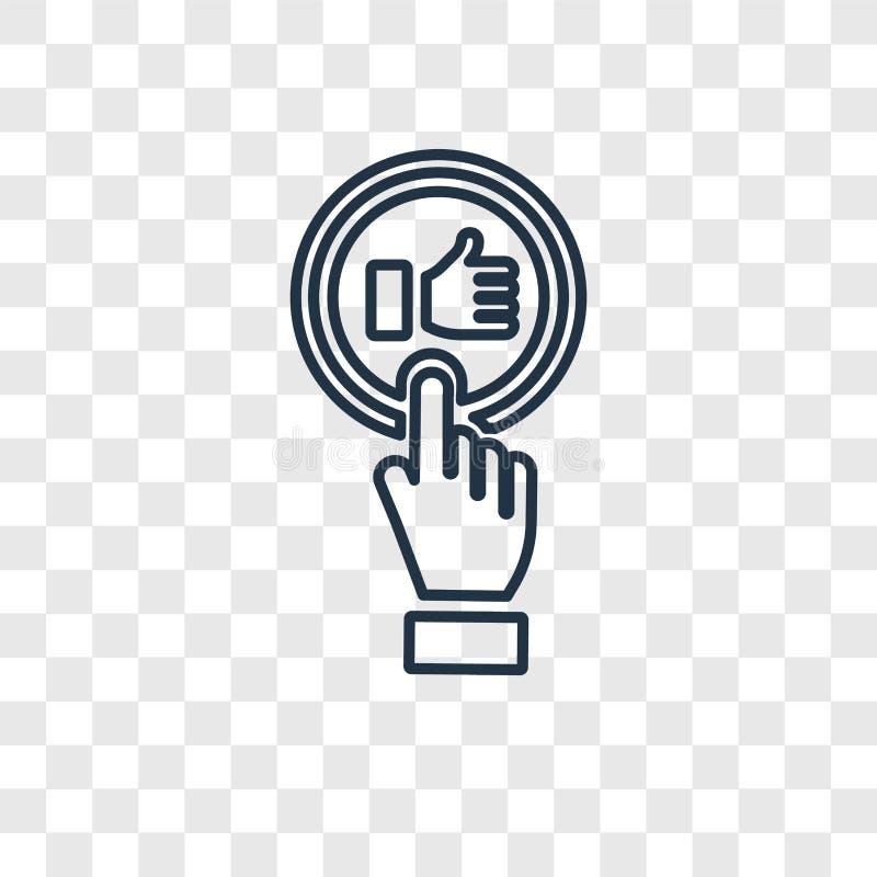 Jak pojęcie wektorowa liniowa ikona odizolowywająca na przejrzystym backgrou ilustracja wektor