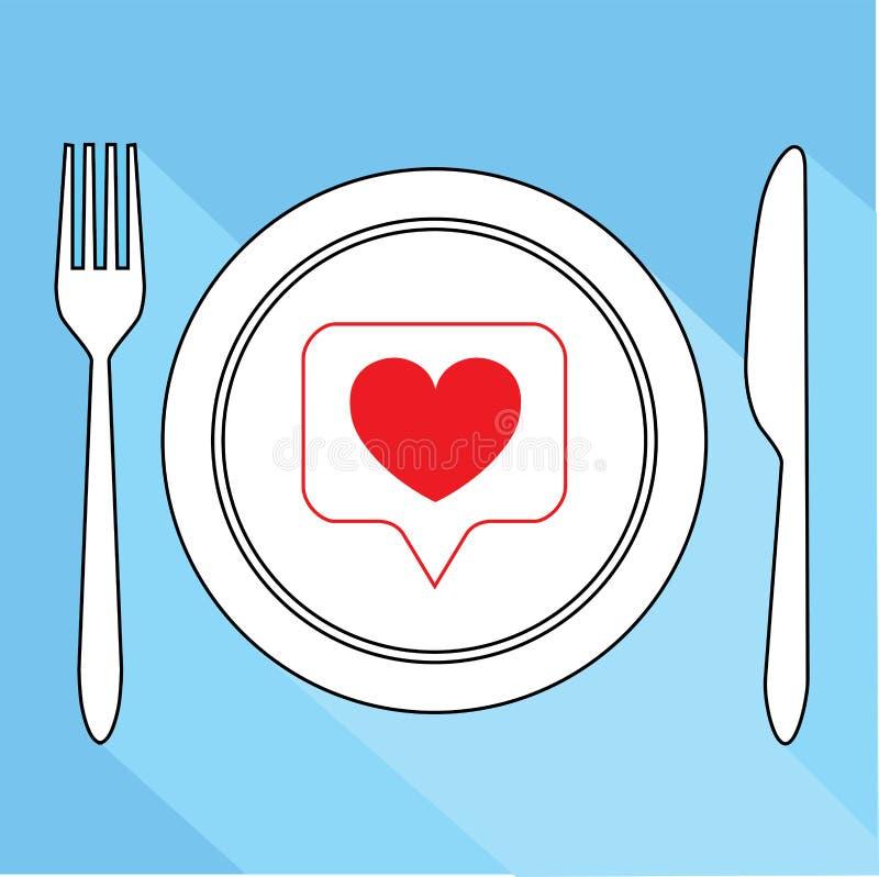 Jak popularny w ogólnospołecznych sieciach, jedzenie dla blogger royalty ilustracja