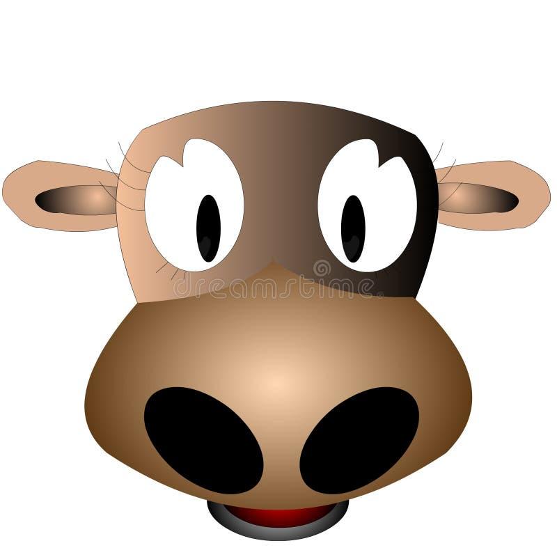 jak teraz brązowa krowa royalty ilustracja
