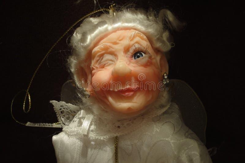 Jak zabawki babcia w świetle reflektorów obrazy royalty free