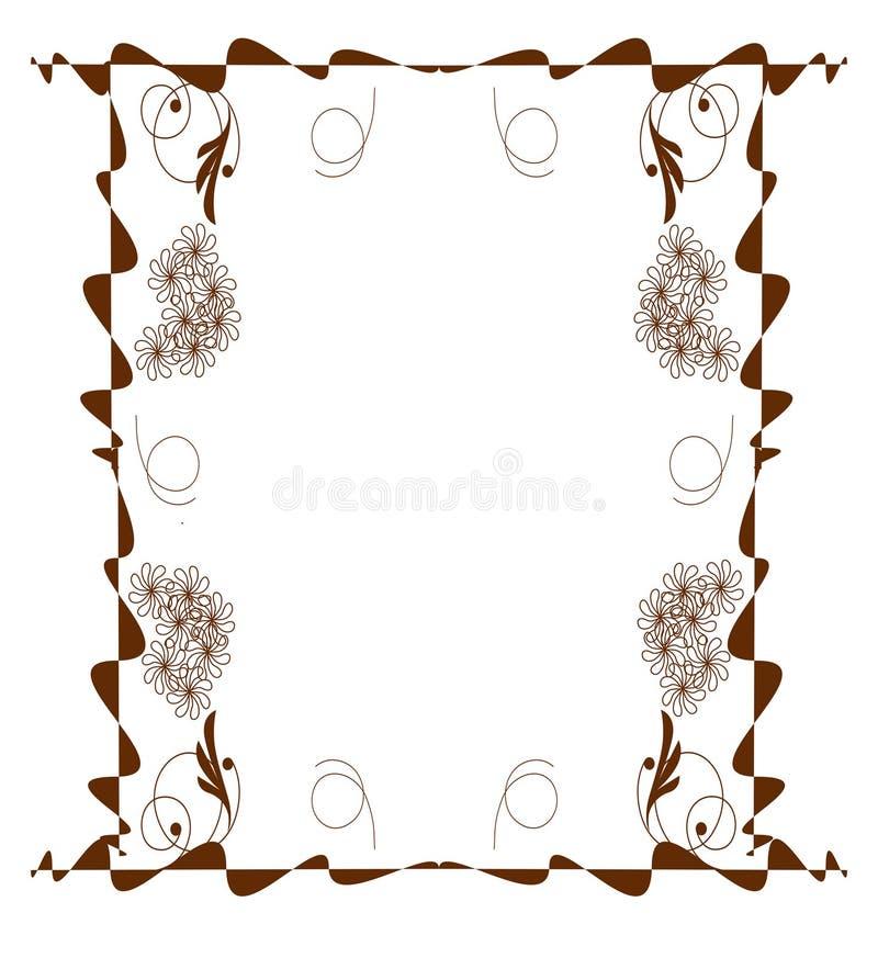 Download Jakaś Piękny Brąz Ramy Struktury Wizerunku Obrazek Ilustracja Wektor - Ilustracja złożonej z stokrotka, objurgate: 41955252