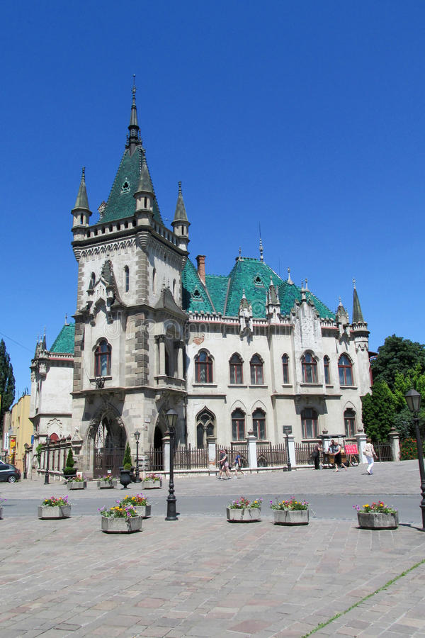 Jakab's Palace in Kosice. Historicism style Jakab's Palace, Slovakia. Historical sight, beautiful palce in Kosice, ancient palace royalty free stock photography