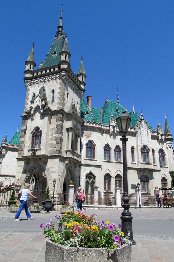 Jakab's Palace in Kosice. Historicism style Jakab's Palace, Slovakia. Historical sight, beautiful palce in Kosice, ancient palace stock image
