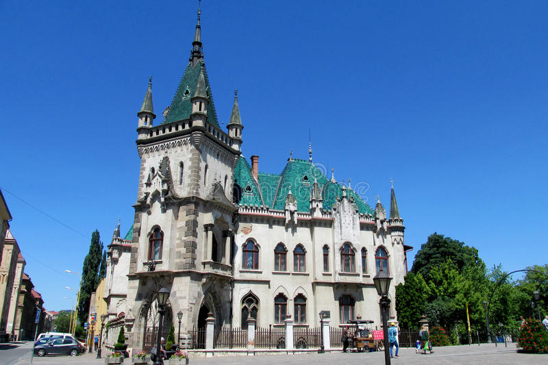 Jakab's Palace in Kosice, Slovakia. Historicism style Jakab's Palace, Slovakia. Historical sight, beautiful palce in Kosice, ancient palace stock image