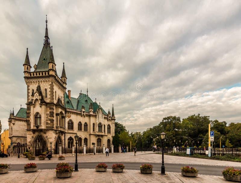 Jakab's Palace. Photo of Historicism style Jakab's Palace was taken on Kosice's main street, Slovakia stock photos