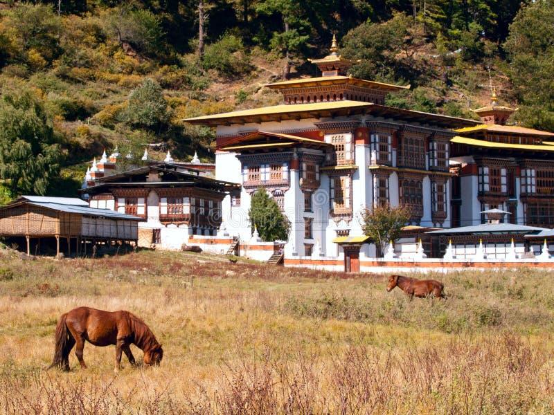 jakar μοναστήρι konchogsum lhakhang στοκ εικόνες