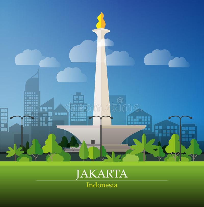 Jakarta Big city royalty free illustration