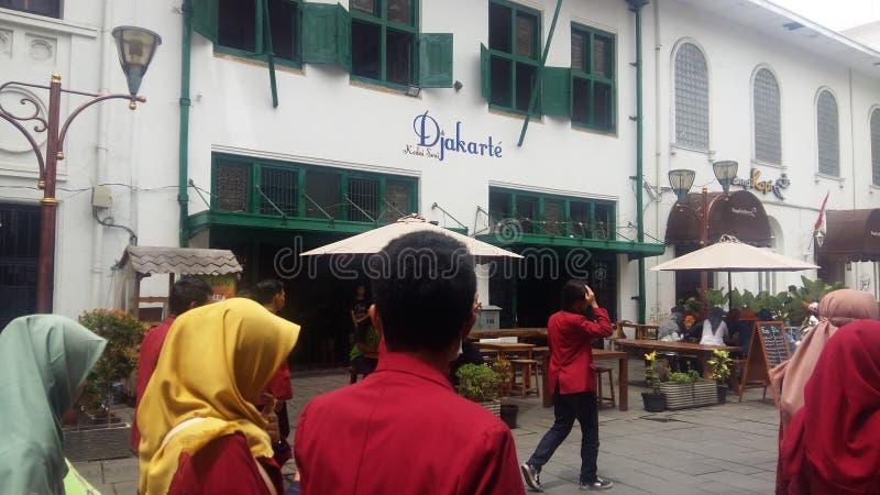 Jakarta city old stock photography