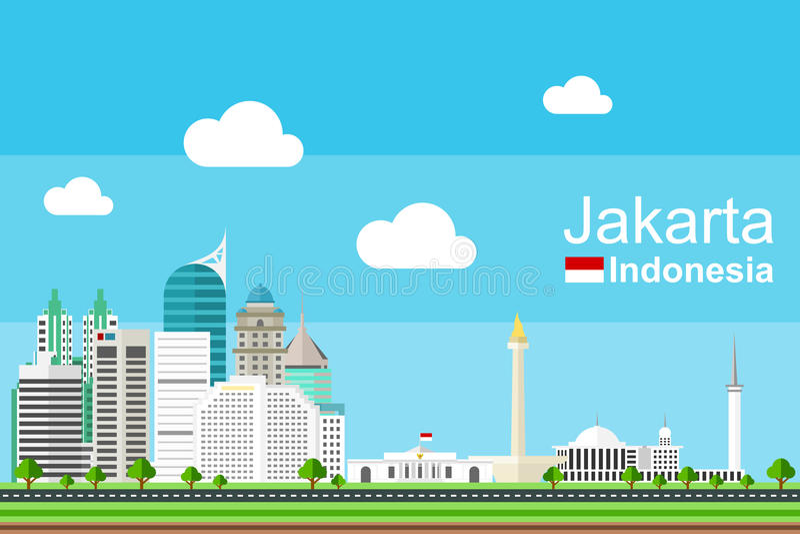 Jakarta Cityscape stock photography