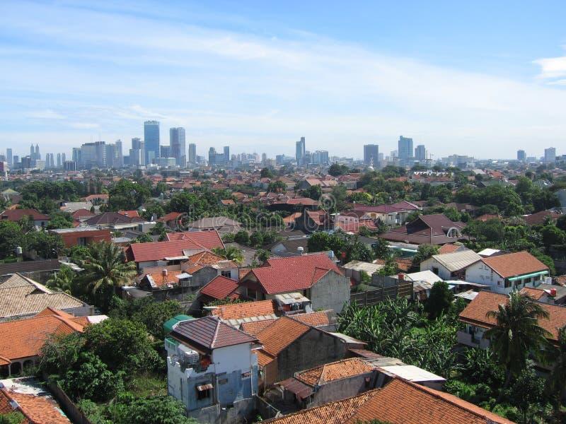 Jakarta em Indonésia imagens de stock
