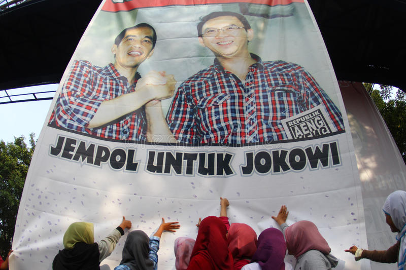 Jakarta governor election royalty free stock photos