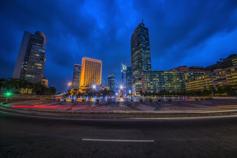 Jakarta huvudstad av indonesia royaltyfri foto