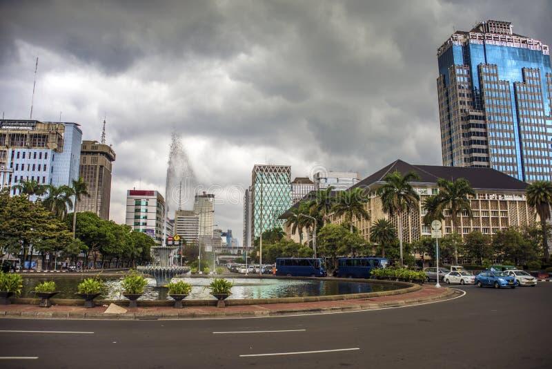 Jakarta huvudstad av indonesia royaltyfria bilder