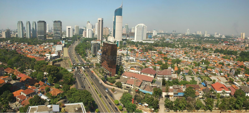 Jakarta, Indonésia. imagens de stock royalty free