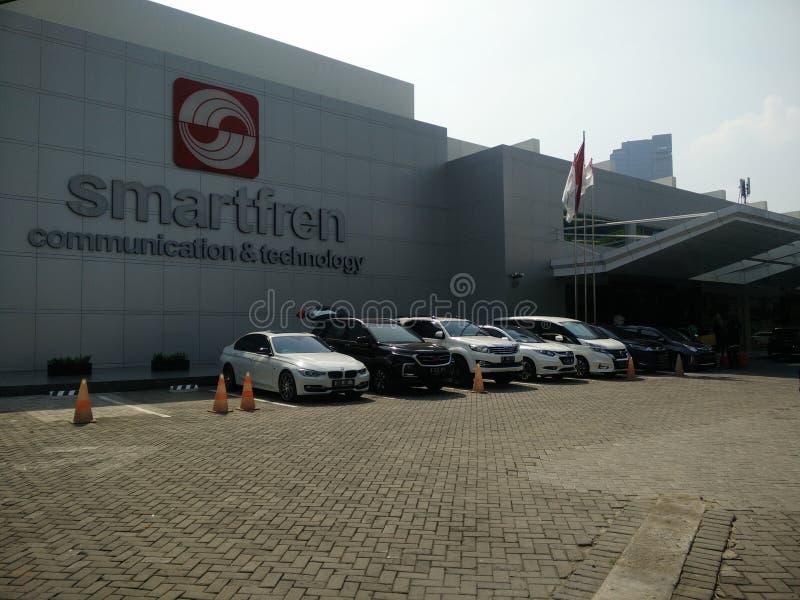 Jakarta/Indonésie smartfren le 15 juillet 2019 le siège social, sabang Jakarta images stock