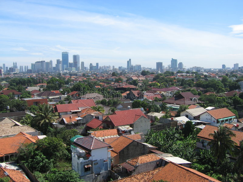 Jakarta in Indonesia. Jakarta the capital of Indonesia on a sunny day stock images