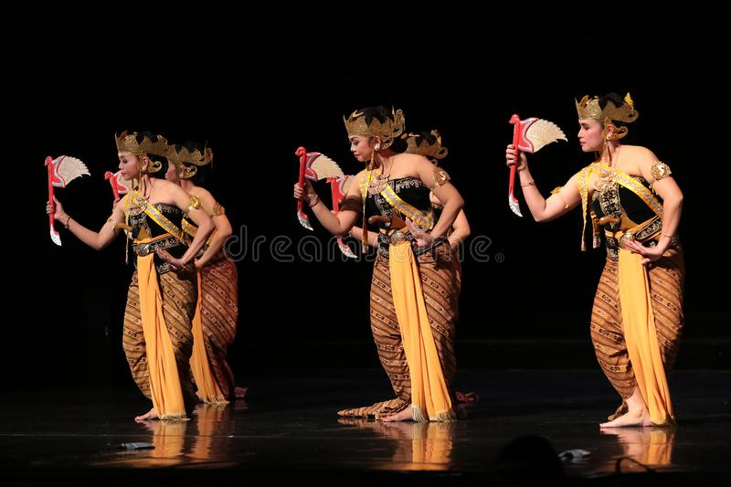 Java Traditional dance perfomance at The Jakarta Art Building royalty free stock photos
