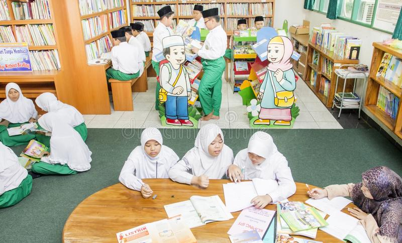Muslim students stock images