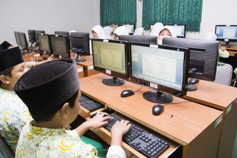 Muslim students royalty free stock images