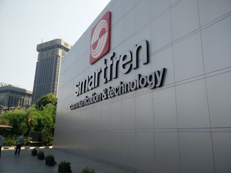 Jakarta/Indonesia 15 de julio de 2019 smartfren la oficina central, sabang Jakarta foto de archivo