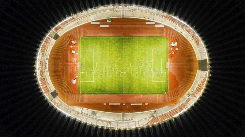Aerial view of Senayan soccer stadium after the renovation ready for the Asian Games 2018 stock images