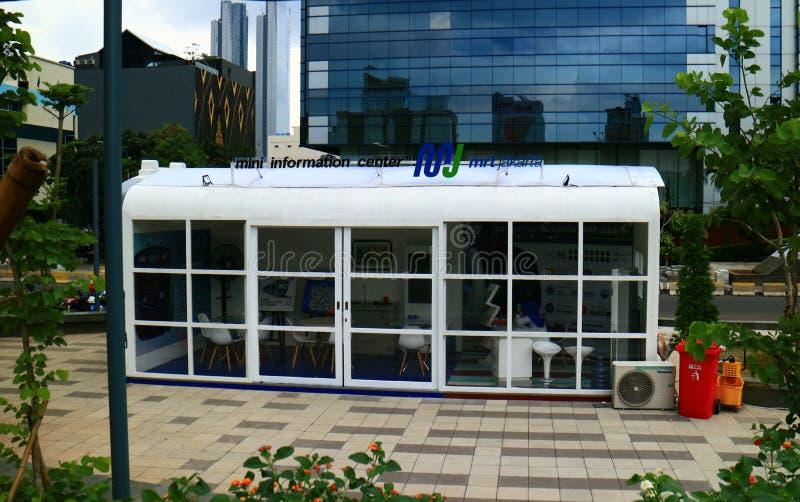 Mini Information Center Mass Rapid Transit royalty free stock photos