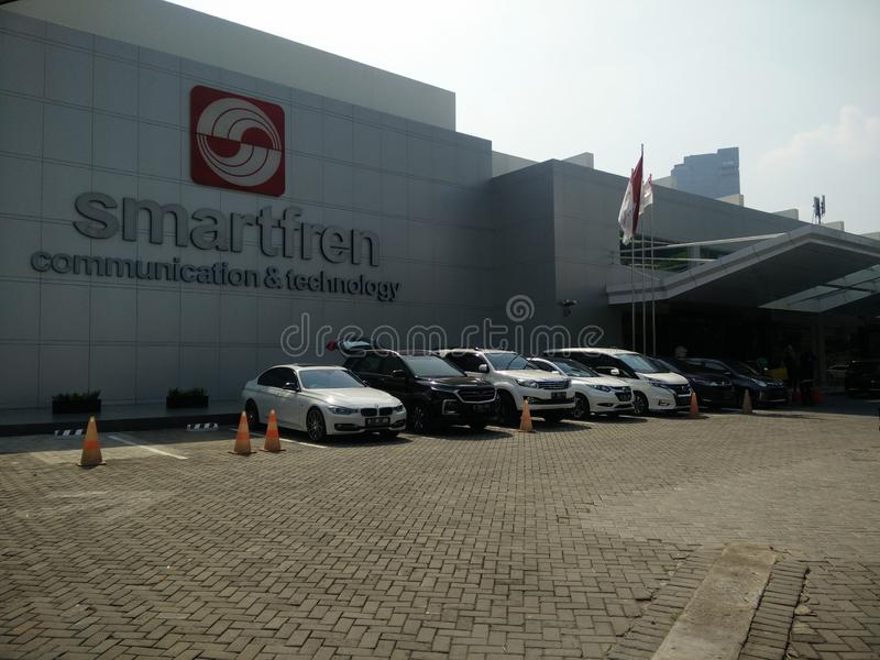 Jakarta/Indonesia 15 luglio 2019 smartfren la sede sociale, sabang Jakarta immagini stock