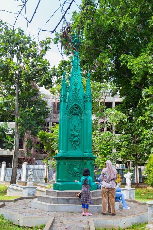 Jakarta, Indonesia - octubre, 28, 2017: Museo de Taman Prasasti adentro foto de archivo