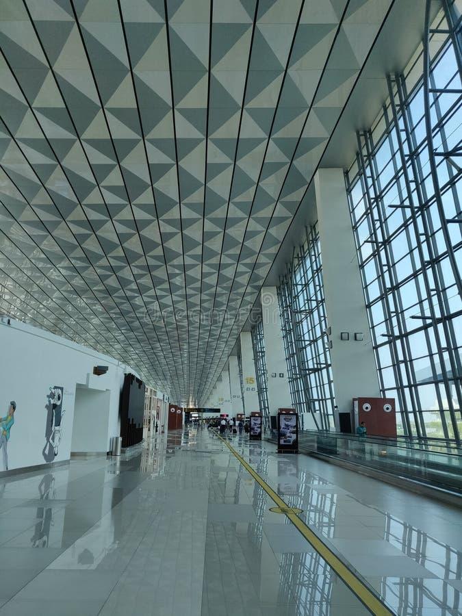 JAKARTA, INDONESIA – SEP 9,2018 : Soekarno-Hatta International Airport's Terminal 3 the main airport on the island of Java.  royalty free stock photos