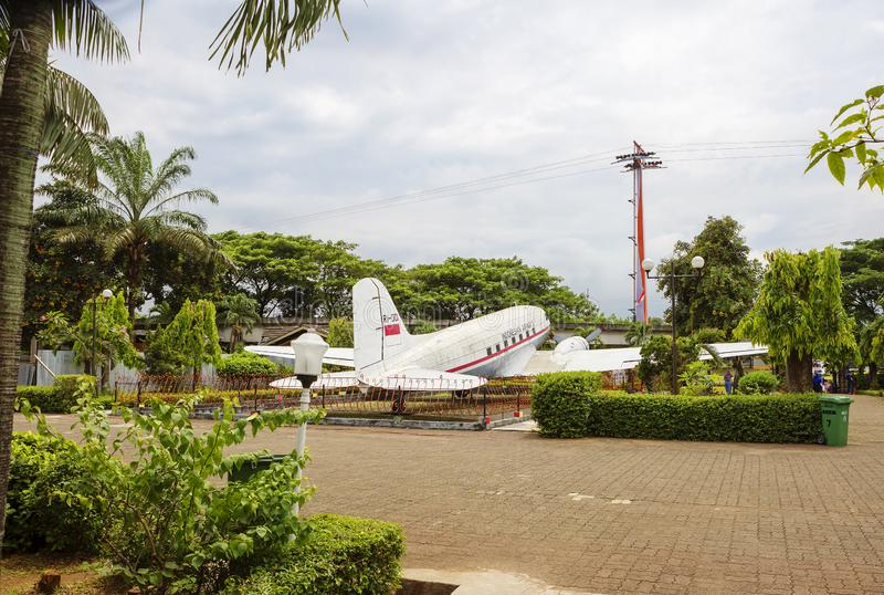 Jakarta, Indonesia, Taman Mini Park - `beautiful Indonesia in miniature`. Aircraft of the first President of the Republic of Indon royalty free stock image